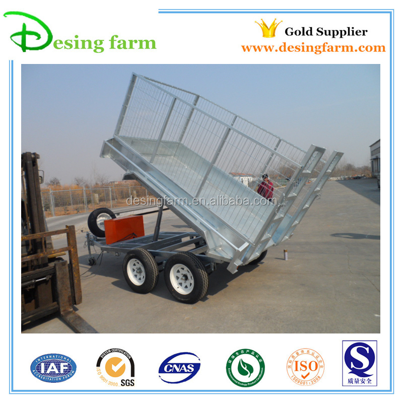 Galvanized farm trailer 4-wheel