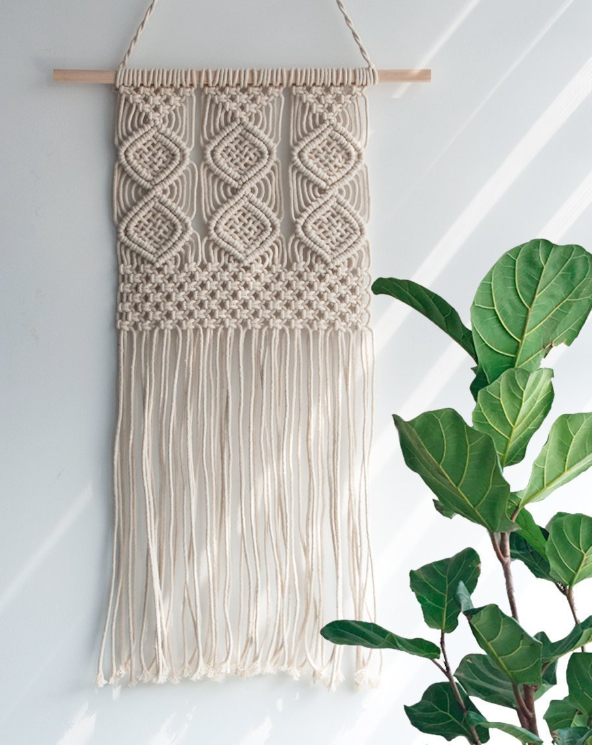 Woven Bohemian Boho Cotton Macrame Wall Hanging Handmade Tapestries Home <strong>Decor</strong>
