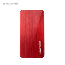 Ultra thin body metal drawing power bank 5000mah