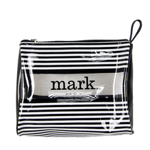 BSCI SEDEX Avon Mark stripe printed clear PVC cosmetic bag pouch