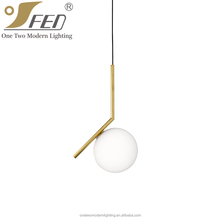 High Quality E14 Glass Studio Pendant Light from Zhongshan Lighting Factory