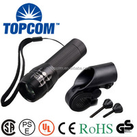 3 modes aluminum alloy high power cree led zoomable bike light