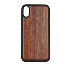 Custom Natrual Wood Cell Phone Case Shell with TPU for iphone X