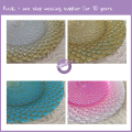 PZ37650 wedding peacock feather glass charger plates wholesale