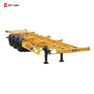 Tri Axles 40 Feet Container Transportation Skeleton Semi Trailer