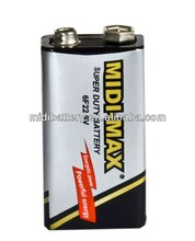 Super power midi-max 6F22 battery 9V