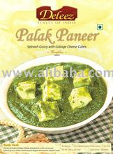 Palak Paneer (Spinach Gravy with Cottage Cheese Cubes)