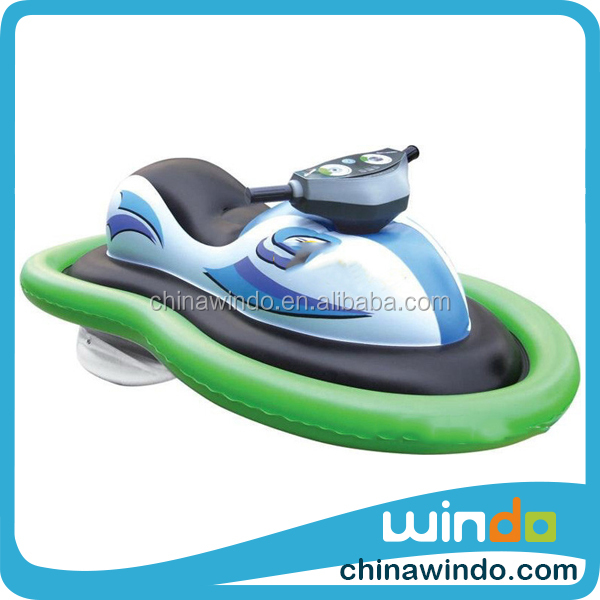 manufacture water float inflatable ride-on jet ski scooter motor boat for kids