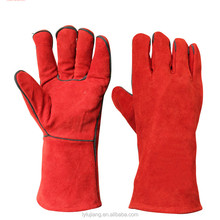 chrome leather gloves/cowgrain leather glove/Blue Industry Protective Working Cow Split Leather Welding Gloves