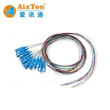 Pigtail 9 FO 0M3 SC/PC APC G657A1 LSZH 0.9MM L:1.5m Fiber Optic Patch Cord