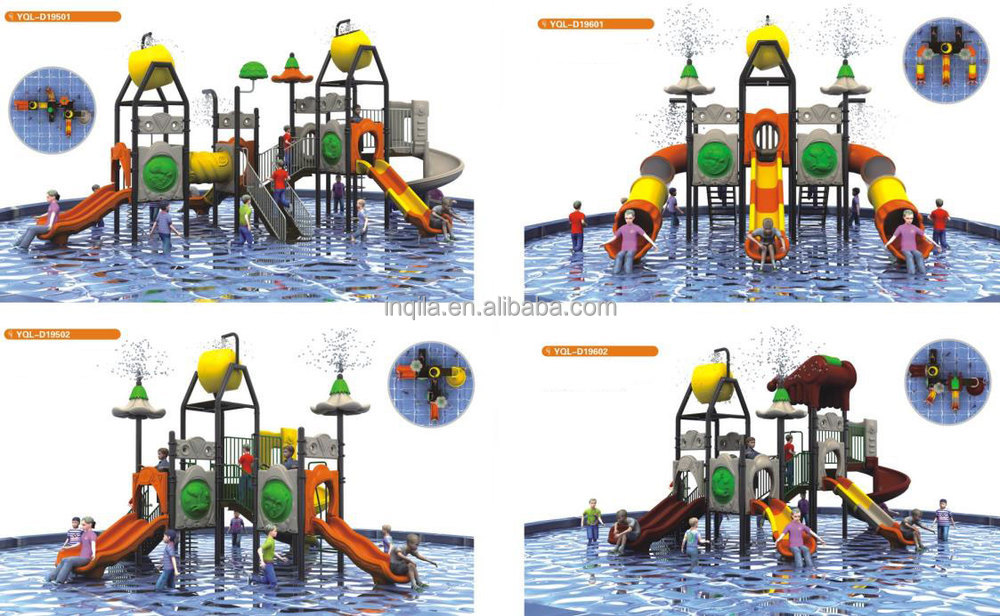2016 hot sale water park equipment kids plastic slides for sale