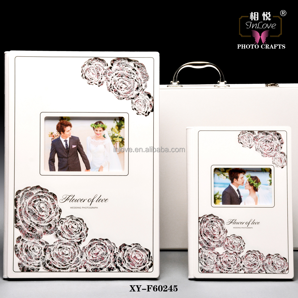 2017 Hot sale Acrylic printing roses diamond wholesale latest wedding photo studio album