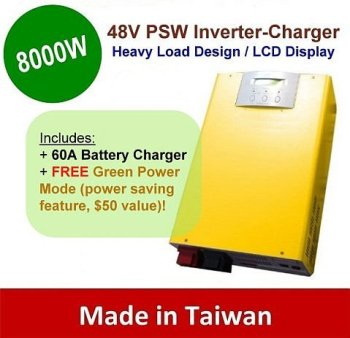 8000w 48v pure sine inverter with charger