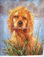 puppy oil painting for kids room