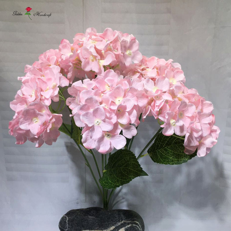 High fabric quality floral centerpiece 7 heads hydrangea artificial flower decoration
