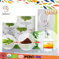 Zero Fat Mint Leaf Extract Instant Green Tea Powder with High Tea Polyphenol