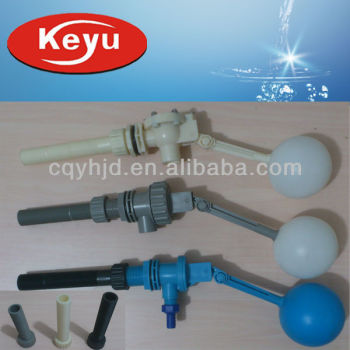 Plastic Float Valve With Long Thread And Inlet Fitting