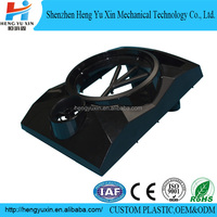 injection molded black abs plastic enclosure for vent fan
