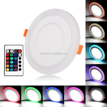 Factory price higher efficiency 3w 4w 6w 9w 12w 15w 18w double color slim round ceiling led panel light made in China