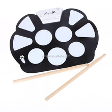 USB Midi Drum Kit Pc Desktop Roll up Electronic Drum Pad Portable with Drumsticks