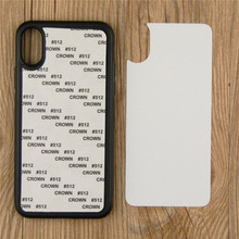 2D TPU Sublimation Blank Phone Case DIY Printed Cover With Aluminum Plate For iPhone X