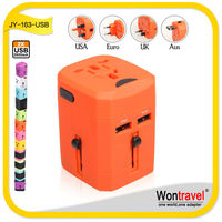 JY-163, Hot selling wontravel universal travel charger, multifunctional USB travel adapter