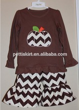 Custom Children's Boutique Clothing Girls Pumpkin Pattern Fall Outfit