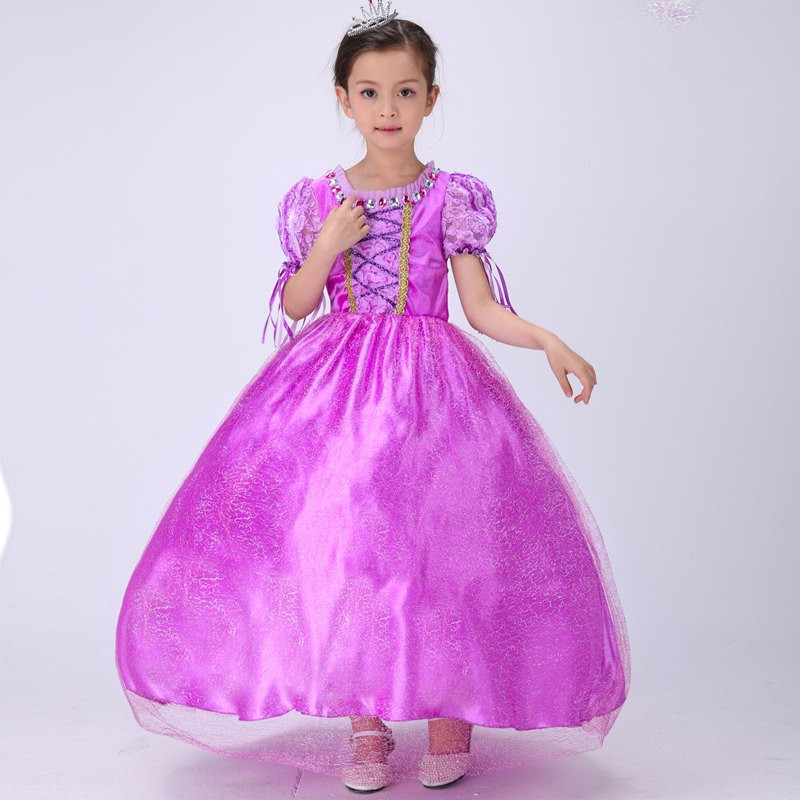 Halloween children costumes china wholesale beautiful gowns party dress for kids D040