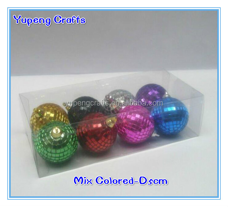 KTV Reflection Colorful Christmas Mirror Ball,Gold Disco Sparkle Lights Glass Ball