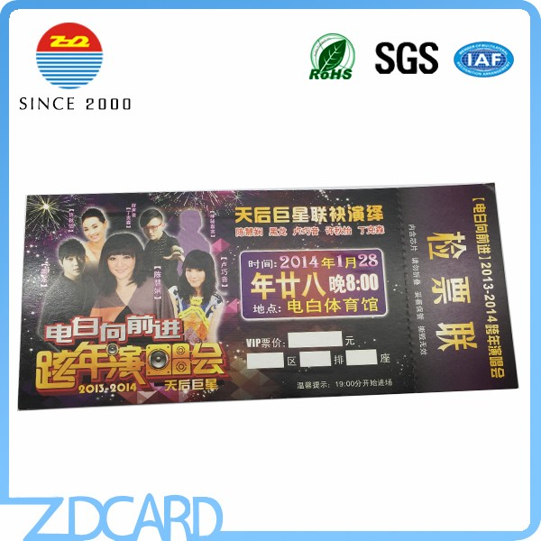 Custom Printing RFID Paper Lottery Tickets Wholesale
