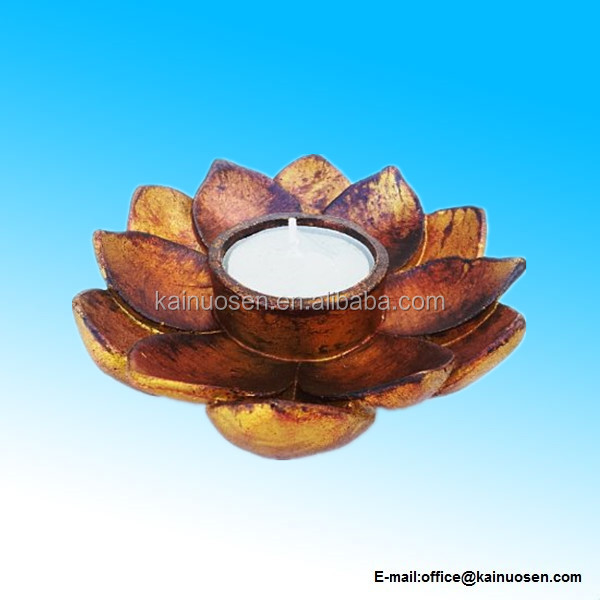 Lotus Incense Cone Burner Votive T-light Candle Holder Meditation Flower Buddha