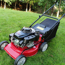 "20"" 4-in-1 gasoline lawn mower dual handlebar/herbage/harvester/grass cutting machine for farm"