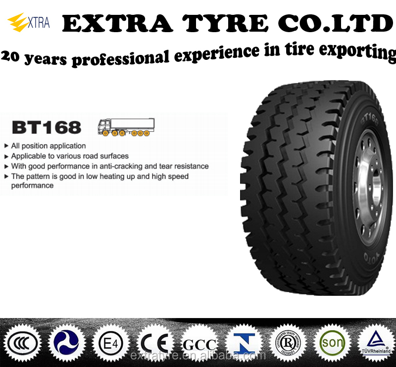 Truck tires BT168 11.00R20,12.00R20,315/80R22.5,13R22.5,application for all position with certificates