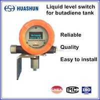 Highly cost effective integrated solution from non-invasive ultrasonic liquid level switch for liquefied gas tank