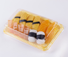 SM1-5107 Seafood Printing food sushi packaging box,food grade plastic sushi box