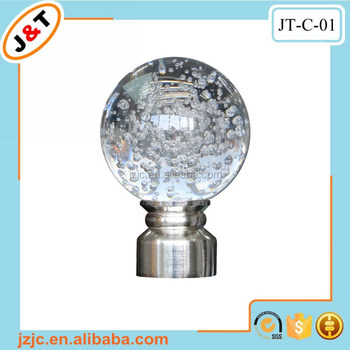 best selling popular design Crystal ball curtain pole curtain rod ...