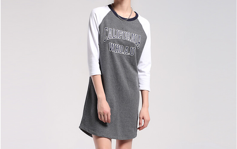 OEM custom wholesale sport dress new fashion ladies sweatshirt dress