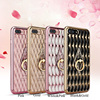 New Style 3D Bling Luminous Diamond Rhinestone Ring Silicone TPU phone Case For iPhone 6/6s/6Plus/7/7Plus