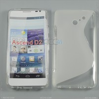 S Type TPU Crystal Case for Huawei Ascend D2 P-HUWEIAscendD2TPU001