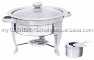 28cm Round Chafing Dish with Glass Lid