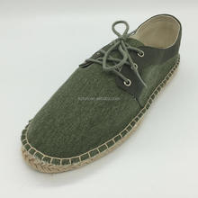 Lace up hand made for man casual espadrilles shoes