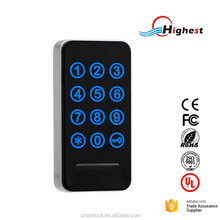 Touch Keypad Digital Electronic Cabinet Locker Lock With Rfid Silicone Bracelet