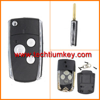 folding remote key shell case cover for toyota land cruiser 200 car key with 3 buttons for toyota