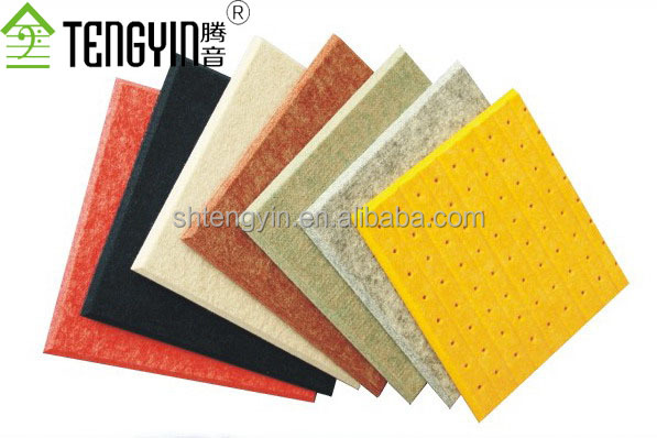 China good price polyester fiber acoustic absorption panels for interior wall ceiling tiles acoustic