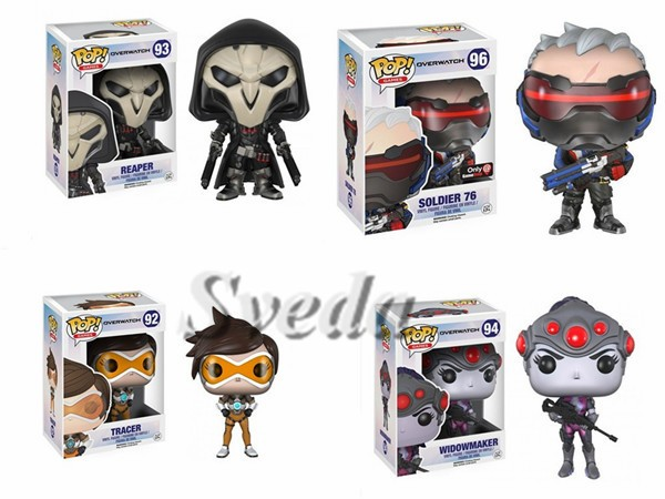 (Top Quality)Overwatch Funko pop 10cm PVC Action Figure,Christmas gifts,Collectible overwatch pop figures