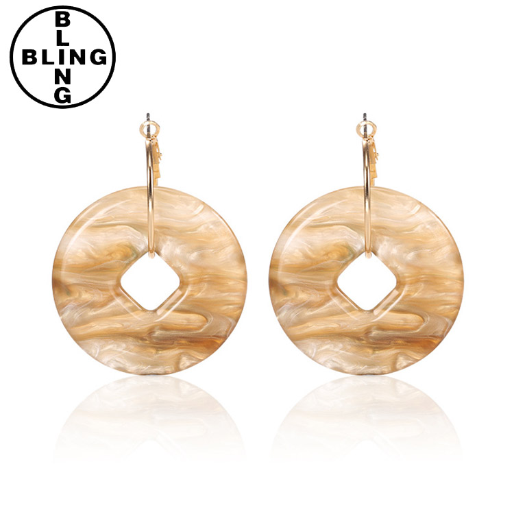 >>>18k gold silver plated shell Stud earring for women Teen Girls Party jewelry