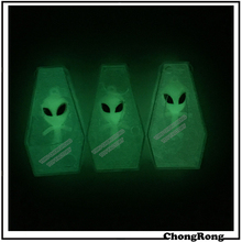 76x42x19mm Coffin Glow In The Dark Alien Crystal Putty Slime Toy