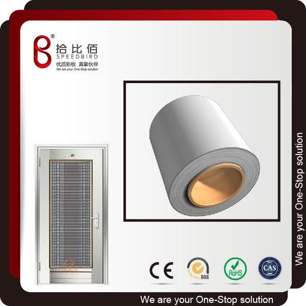 Color pvc laminated metal door security plate
