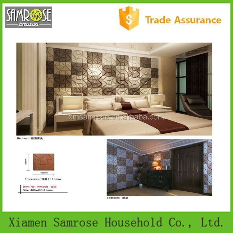Hot selling china home decor wholesale environmental 3d lightweight panel wall