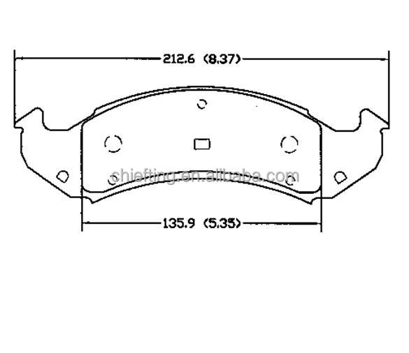 D502 for BUICK PONTIAC brake pads production process